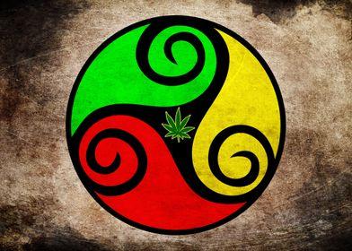 Grunge Reggae Vibes - Cool Weed Pot Reggae Rasta Artwor ...