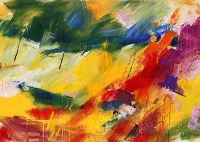Abstract painting by Mario Zampedroni
