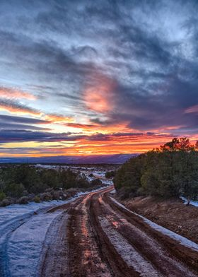 Trail to the Sun. Just north of Taos I was treated to o ...