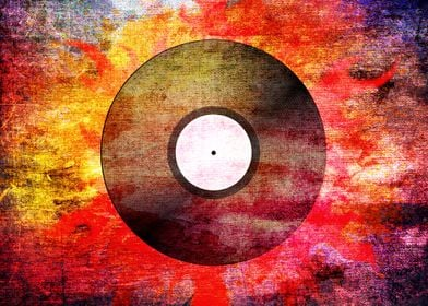 The Timeless Vinyl Record - Modern Grunge abstract fire ...