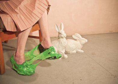 Triptych of stills from my fashion film short, 'Baby, 1 ...