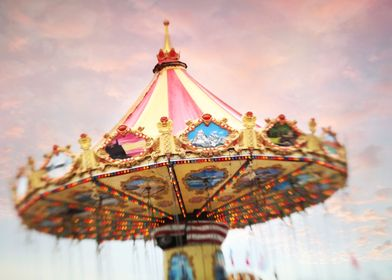 One of the swings rides at the fair taken with my lensb ...