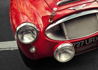 British red sports car