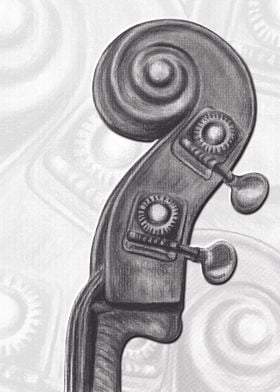 Headstock in charcoal