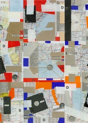 Digital Hybrid Collage investigating the link between m ...