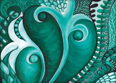 Green Dream - acrylic painting