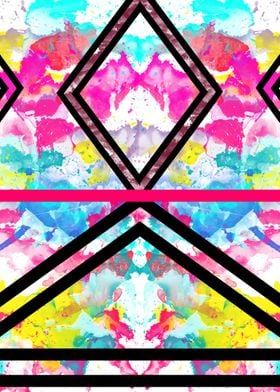 Fashion Stripes Neon Rainbow Watercolor. girly, stylis ...
