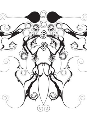 Moth Swirls And Twirls ~ Swirly inkblot style moth. Abs ...