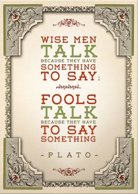 Plato on Talking