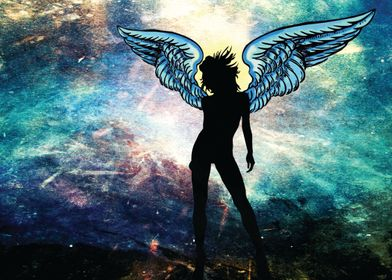 The Universe is my Angel - I used 9 different images to ...