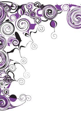 Purple Swirls And Twirls ~ Purple and black swirls and  ...