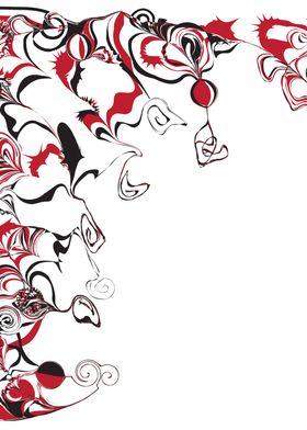 Paint Swirls And Twirls ~ Red and black swirls and twir ...
