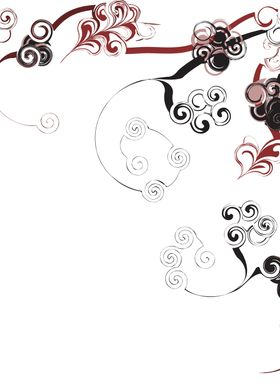 Red Swirls And Twirls ~ Red, pink, and black swirls and ...