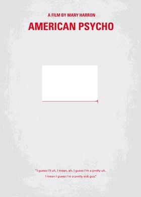 No005 My American Psycho minimal movie poster A wealth ...