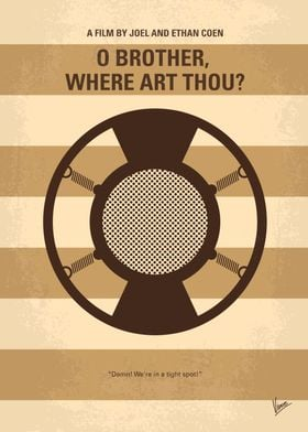 No055 My O Brother Where Art Thou minimal movie poster ...