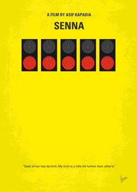 No075 My senna minimal movie poster A documentary on B ...
