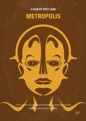 No052 My Metropolis minimal movie poster In a futurist ...