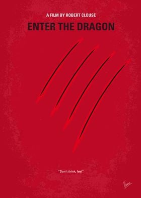 No026 My Enter the dragon minimal movie poster A marti ...