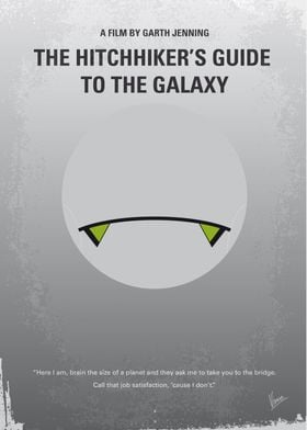 No035 My Hitchhiker Guide minimal movie poster Mere se ...