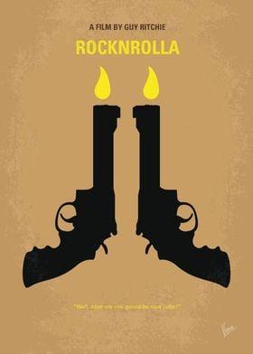 No071 My Rocknrolla minimal movie poster In London, a ...