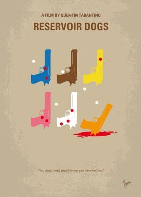 No069 My Reservoir Dogs minimal movie poster After a s ...