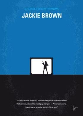 No044 My Jackie Brown minimal movie poster A flight at ...