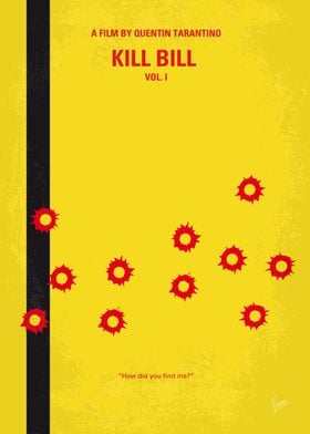 No048 My Kill Bill - part 1 minimal movie poster The B ...