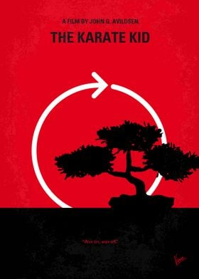 No125 My KARATE KID minimal movie poster A handyman/ma ...