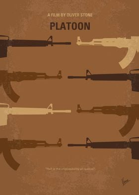 No115 My Platoon minimal movie poster A young recruit ...