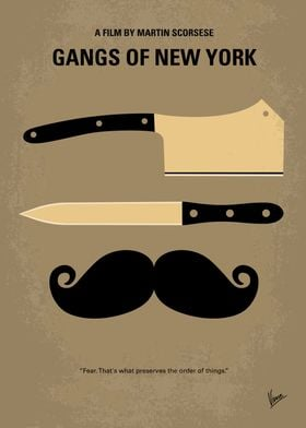 No195 My Gangs of New York minimal movie poster In 186 ...
