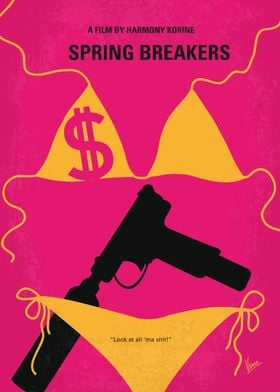No218 My SPRING BREAKERS minimal movie poster Four col ...