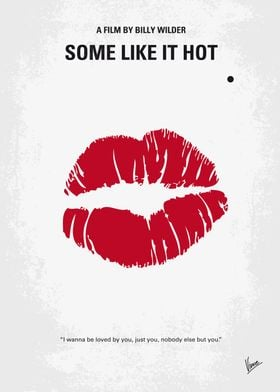 No116 My SOME LIKE IT HOT minimal movie poster When tw ...