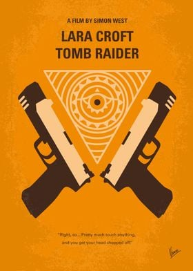 No209 Lara Croft Tomb Raider minimal movie poster Vide ...