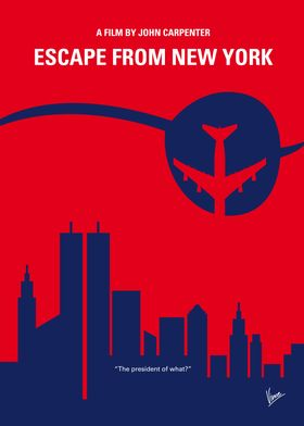 No219 My Escape from New York minimal movie poster In ...