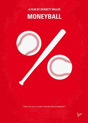 No191 My Moneyball minimal movie poster Oakland A's ge ...
