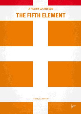 No112 My Fifth Element minimal movie poster In the col ...