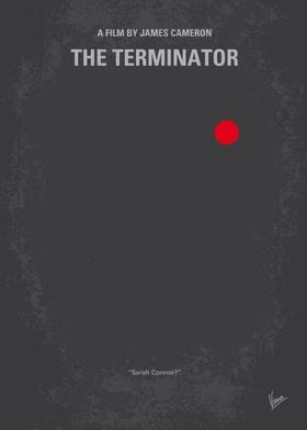 No199 My Terminator minimal movie poster A human-looki ...
