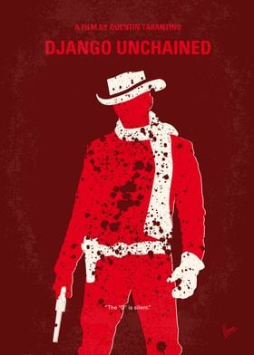 No184 My Django Unchained minimal movie poster With th ...