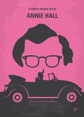 No147 My Annie Hall minimal movie poster Neurotic New ...