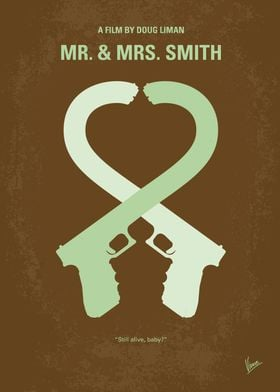 No187 My Mr. and Mrs. Smith minimal movie poster A bor ...