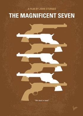 No197 My The Magnificent Seven minimal movie poster  A ...