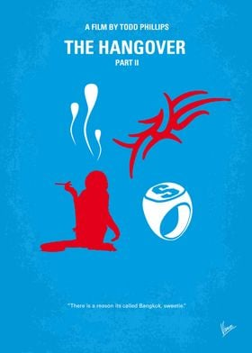 No145 My THE HANGOVER Part II minimal movie poster Two ...