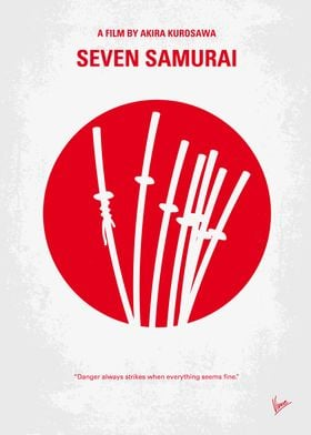 No200 My The Seven Samurai minimal movie poster A poor ...