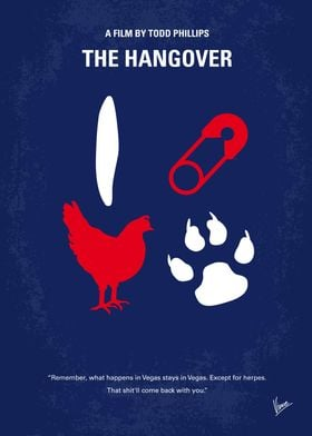 No145 My THE HANGOVER Part I minimal movie poster Thre ...