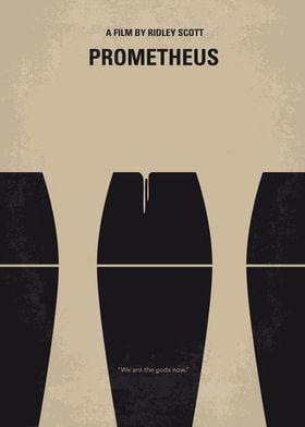No157 My Prometheus minimal movie poster A team of exp ...