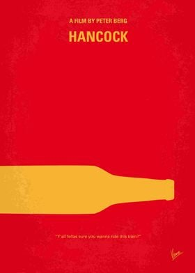 No129 My HANCOCK minimal movie poster A hard-living su ...