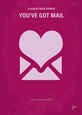 No107 My Youve Got Mail minimal movie poster Two busin ...