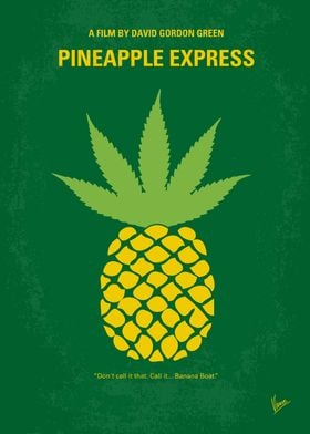 No264 My PINEAPPLE EXPRESS minimal movie poster A proc ...