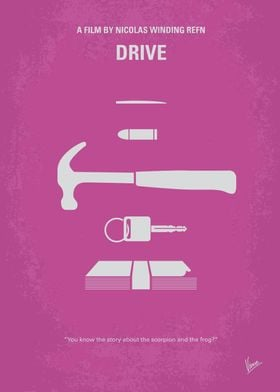 No258 My DRIVE minimal movie poster A mysterious Holly ...