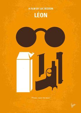 No239 My LEON minimal movie poster A professional assa ...